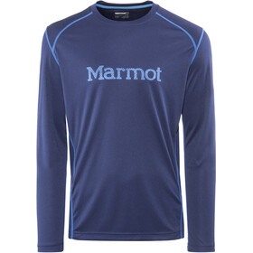Marmot Windridge T-shirt graphique à manches longues Homme, arctic navy/french blue